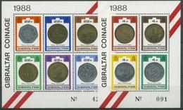 Gibraltar 1989 Neue Münzen Von Gibraltar Block 13/14 Postfrisch (C30905) - Gibilterra