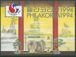 Gibraltar 1994 PHILAKOREA ' 94: Hunde Block 20 Postfrisch (C30912) - Gibilterra