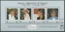 Gibraltar 1998 Prinzessin Diana Block 32 Postfrisch (C30919) - Gibilterra