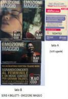 """SERIE 4 BIGLIETTI BUS USATI """"EMOZIONE MAGGIO"""" FIRENZE ATAF - Bus"""