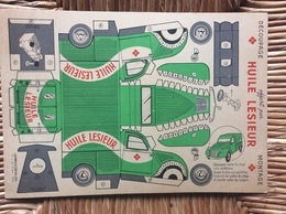 DECOUPAGE CARTON  Camionette 2 CV Citroen  HUILE LESIEUR - Carton / Lasercut