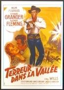 Carte Postale Ill. Roger Soubie (cinéma Affiche Film Western) Terreur Dans La Vallée (Stewart Granger - Rhonda Fleming) - Affiches Sur Carte