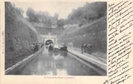 PENICHE - 54 - LIVERDUN : Péniche Au Tunnel Du Canal - CPA -  Barge Lastkähne Aken Chiatte Barcazas Barcaças - Houseboats