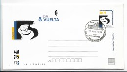 ARGENTINA 1999 AEROGRAM - IDA Y VUELTA - MAFALDA - CARTOON - HISTORIETAS FIRST DAY OF ISSUE CANCEL - Argentina