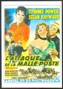 """Carte Postale (cinéma Affiche Film Western) L'attaque De La Malle-Poste (Tyrone Power - Susan Hayward) """"Rawhide"""" - Affiches Sur Carte"""