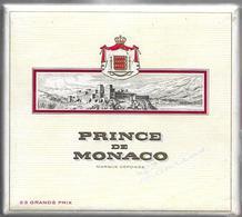 Ancien Paquet Vide En Carton De 20 Cigarettes Prince De Monaco - Empty Cigarettes Boxes