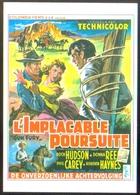 """Carte Postale (cinéma Affiche Film Western) L'implacable Poursuite (Rock Hudson - Donna Reed) """"Gun Fury"""" - Affiches Sur Carte"""