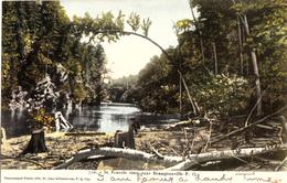 Sherbrooke Québec - St. Francis River Near Bromptonville - Written 1907) - A.Z. Pinsonneault - 2 Scans - Sherbrooke