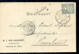 Helder - Kanaalweg - Confiseur Van Hoolwerff - 1906 - Period 1891-1948 (Wilhelmina)