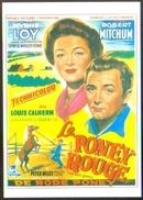 """Carte Postale (cinéma Affiche Film Western) Le Poney Rouge (Myrna Loy - Robert Mitchum) """"The Red Pony"""" - Affiches Sur Carte"""