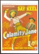 Carte Postale (cinéma Affiche Film Western) Calamity Jane, La Terreur Blonde (Doris Day - Howard Keel) - Affiches Sur Carte