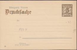 BAYERN  P ZD 4/03, Ungebraucht, Rücks. Eindruck Der Helvetia Feuer-Versicherungs-Gesellschaft München - Beieren
