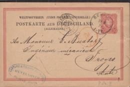 DR P 8 II 01, Gestempelt: Benfeld 28.9.1879, Mit Abart: Mäanderbogen Ausgefüllt (rechte Obere Ecke) - Allemagne