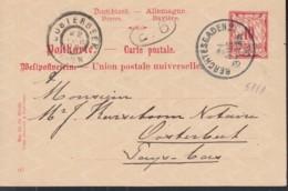 BAYERN  P 51/01, Gestempelt: Berchtesgaden 21.AUG 1900 - Beieren
