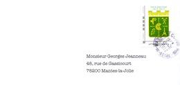 France - Golf De Saint Cloud - Timbre Du Centenaire (2013) - Sur Enveloppe - Golf
