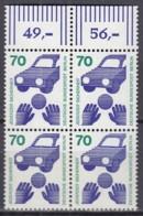 BERLIN 453,  4erBlock = 2 Waagerechte Paare, Postfrisch **, Unfallverhütung 1973 - Ungebraucht