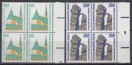 BERLIN 834-835 A,  4erBlock = 2 Waagerechte Paare, Postfrisch **, Sehenswürdigkeiten 1989 - Berlin (West)