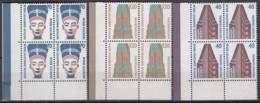 BERLIN 814-816,  4erBlock Eckrand Unten Links = 2 Waagerechte Paare, Postfrisch **, Sehenswürdigkeiten 1988 - Berlin (West)
