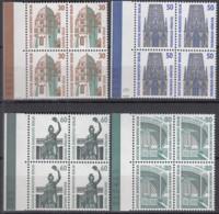 BERLIN 793-796 A,  4erBlock = 2 Waagerechte Paare, Postfrisch **, Sehenswürdigkeiten1987 - Berlin (West)