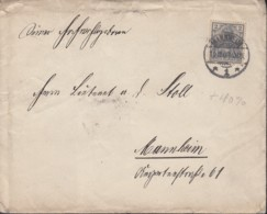 DR 53 EF Auf Brief, Stempel: Mannheim 12.12.1901 - Germany