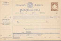BAYERN A 53 I (90), Ungebraucht, Postanweisung 1890/95 - Beieren