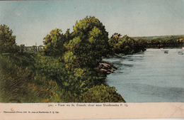 Sherbrooke - St. Francis River - Bridges Behind - Ponts En Arrière -plan - Written 1906 - A.Z. Pinsonneault 2 Scans - Sherbrooke