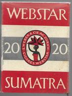 Ancien Paquet Vide En Carton De 20 Cigarettes Webstar Sumatra - Empty Cigarettes Boxes