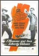 Carte Postale Ill. : Grinsson (cinéma Affiche Film Western) L'Homme Qui Tua Liberty Valance (James Stewart - John Wayne) - Affiches Sur Carte