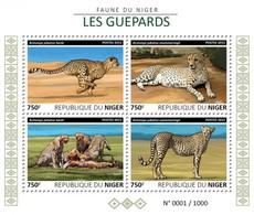 Niger 2015. [nig15606] Fauna, Cheetahs (s\s) - Raubkatzen