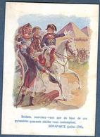 Chromo Aux élégants Anatole Aubé E. Dubois Ecueillé Campagne D'Egypte Napoléon Bonaparte Soldats Pyramides 1798 - Chromos