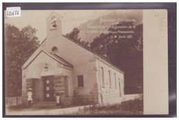 BOUVERET ST GINGOLPH - INAUGURATION DE LA CHAPELLE PROTESTANTE LE 21 AOUT 1921 - TB - VS Valais