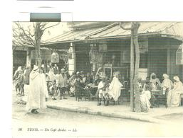 TUNISIE TUNIS, CAFE ARABE, ANIMEE, - Tunisia