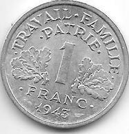 France 1 Franc 1943  Km 902.1  Xf+ - Francia