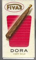 Ancien Paquet Vide En Carton De 5 Cigares Fivaz Dora - Cigar Cases