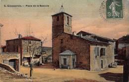 CPA - Ginasservis - Place De La Bascule - France