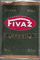 Ancien Paquet Vide En Carton De  Cigares Fivaz Brésil - Cigar Cases