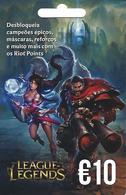PORTUGAL - League Of Legends Gift Card 10€ - Cartes Cadeaux