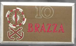 Ancien Paquet Vide En Carton De 10 Petits Cigares Brazza - Sigarenkokers