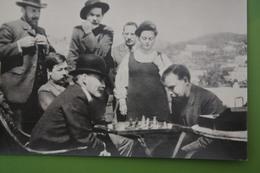 "Writer Gorky Set ""Lenin And Gorky Playing Chess"" - OLD USSR PC.  1974 - Chess - Échecs - Echecs"
