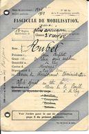 63 ST ELO Y Les MINES        FASCICULE DE MOBILISATION  CLASSE 1904 AUBEL  JEAN BATISTE  63 ST ELOY LES MINES - Documents