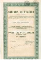 Titre Ancien - Galeries De L'Ecuyer - Société Anonyme - Titre De 1930 - Actions & Titres