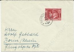Germany FD Letter 1941 Hitler And Mussolini 30 JAN 1941 Reutlingen No 2 - Covers & Documents