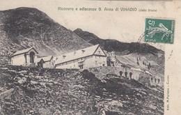 S.ANNA DI VINADIO-CUNEO-RICOVERO E ADIACENZE-CARTOLINA VIAGGIATA IL 8-7-1909 - Cuneo