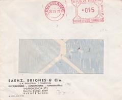 SAENZ BRIONES & CIA - COMMERCIAL ENVELOPPE CIRCULEE YEAR AN 1973 CIUDAD BUENOS AIRES MACHINE D'AFFRANCHISEMENT - BLEUP - Storia Postale