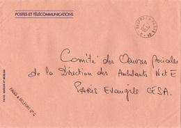 LSC 1987 - AMBULANT - Cachet Et Griffe BELFORT à PARIS 2° C - Marcophilie (Lettres)