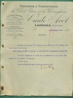 62 Lumbres Avot Emile Papeterie Cartonnerie Du Val D' Elnes Et De Védringhem 8 Septembre 1903 - Drukkerij & Papieren