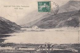 COLLE DELLA MADDALENA-CUNEO-LAGO SUL COLLE-CARTOLINA VIAGGIATA IL 11-7-1909 - Cuneo