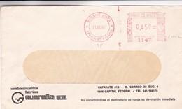 GUEREÑO SA - COMMERCIAL ENVELOPPE CIRCULEE YEAR AN 1980 CIUDAD BUENOS AIRES MACHINE D'AFFRANCHISEMENT - BLEUP - Argentine