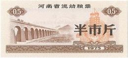 China (CUPONES) 0.50 Jin = 250 Grs. Henan 1975 Ref  461-1 UNC - China