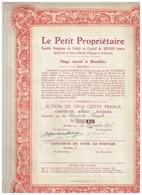 Titre Ancien - Le Petit Propriétaire - Société Anonyme De Crédit - Titre De 1907 - Banque & Assurance
